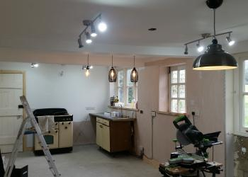 Kitchen lighting installation in cwmbran